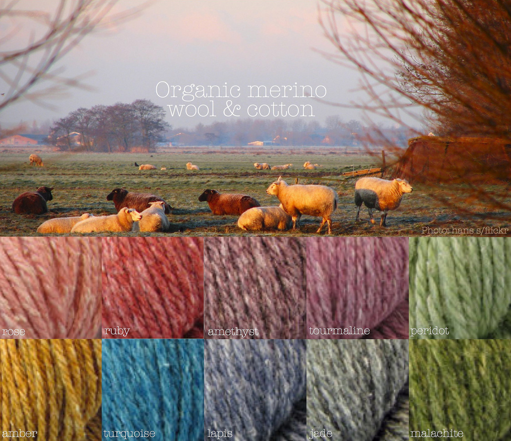 organic merino wool and cotton