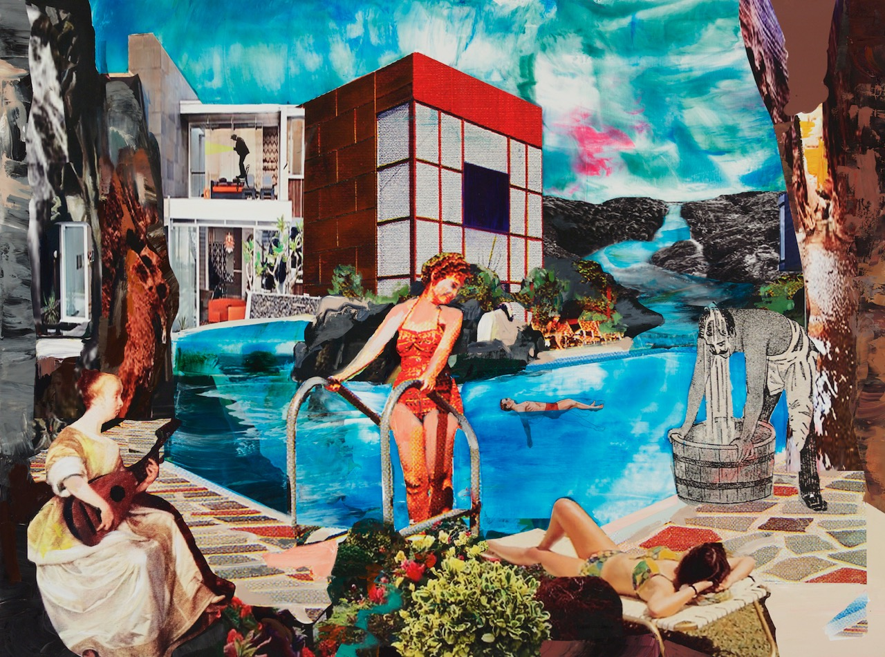 Century's Swim, 2014, Acrylic and Oil on Inkjet Canvas, 48 x 64.5 Inches