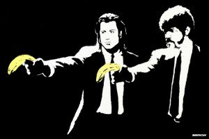 Banksy (British, b. ca. 1974), Pulp Fiction, 2004. Courtesy of artnet auctions, Contemporary Editions Auction, September 10, 2015