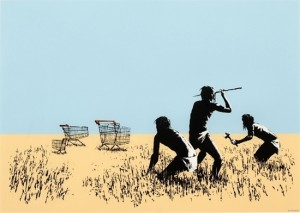 Banksy (British, b. ca. 1974), Trolleys, 2007. Courtesy of artnet auctions, Contemporary Editions, September 10, 2015