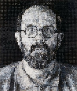 Chuck Close (American, b. 1940), Self-Portrait, 1995. Courtesy of artnet auctions, Contemporary Editions, September 10, 2015
