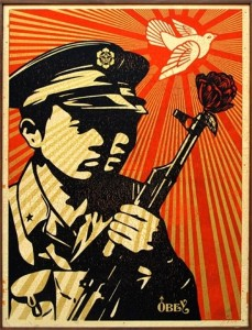 Shepard Fairey (American, b. 1970), Chinese Soldiers, 2006. Courtesy of artnet auctions, Contemporary Editions, September 10, 2015
