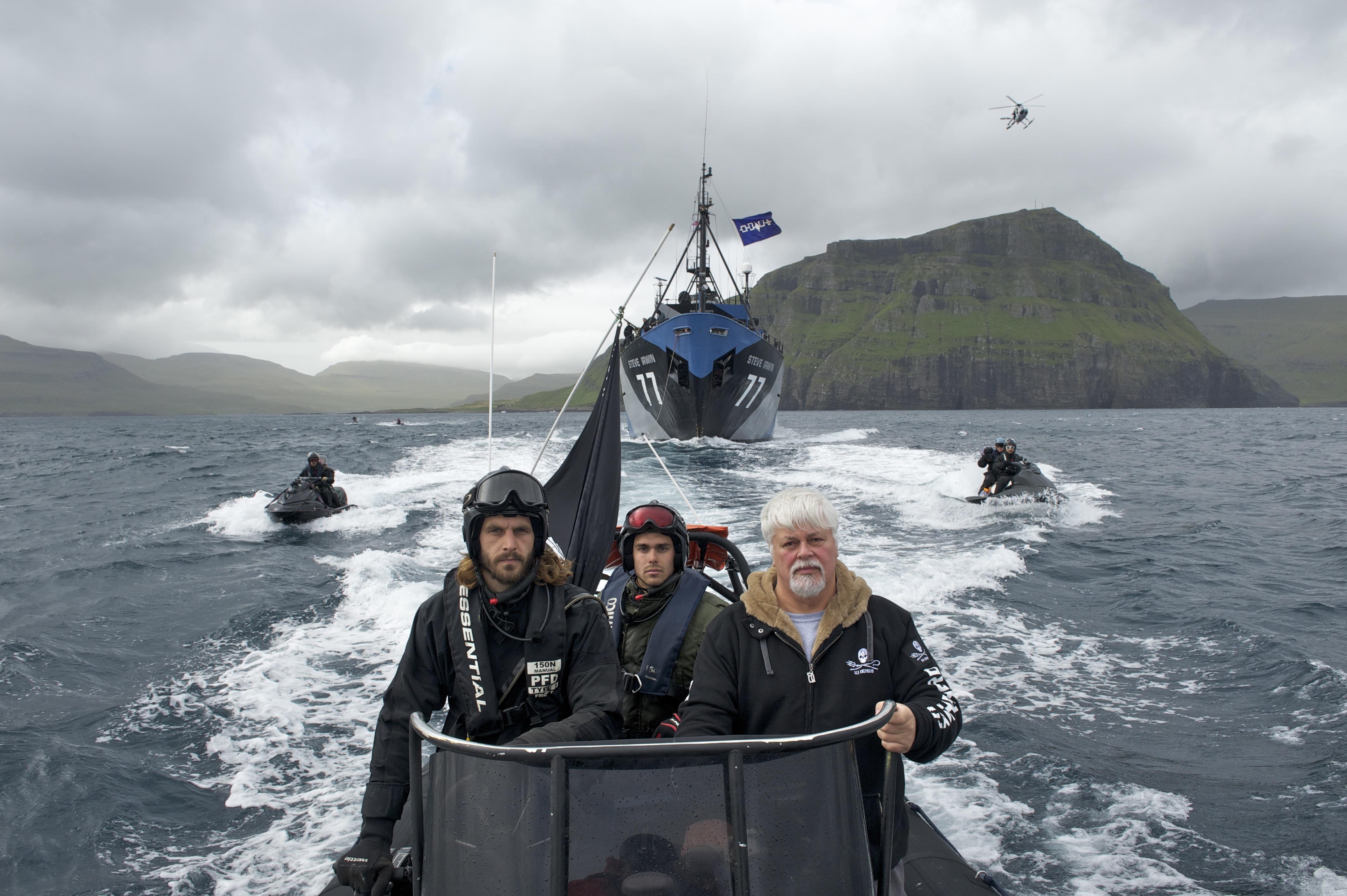Paul Watson and his crew