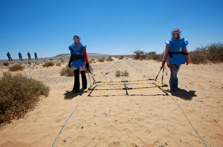 Western Sahara landmine