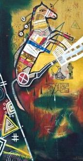 Sunny Horse, 2008, canvas acrylic