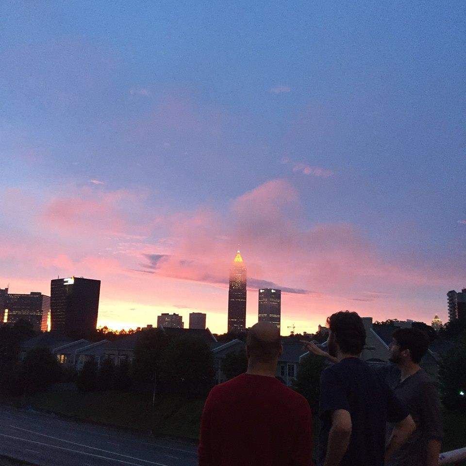 Nicholas Goodly looks over Atlanta. Photo by Alex Duncan