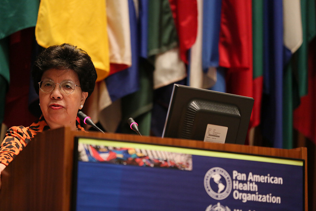 Dr. Margaret Chan at the World Health Organization Opening Ceremony. The organization has determined that the Zika virus should not deter the Olympic games. Photo courtesy of the Pan American Health Organization.