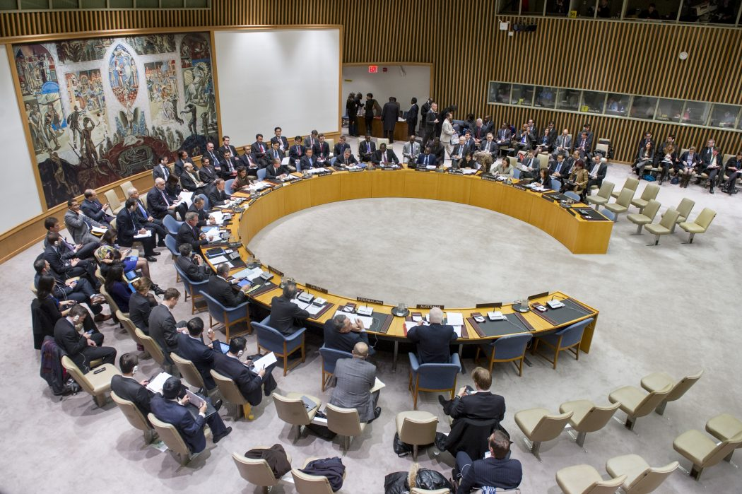 Security Council Meeting on threats to international peace and security caused by terrorist acts.