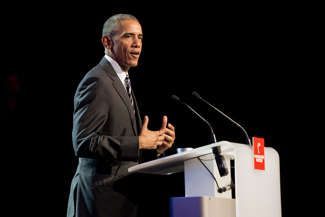 President Obama at Hannover Messe 2016. Obama issued an executive order calling on the private and public sectors to unite against cyber attacks. Photo courtesy of the US Department of Commerce via Flickr.