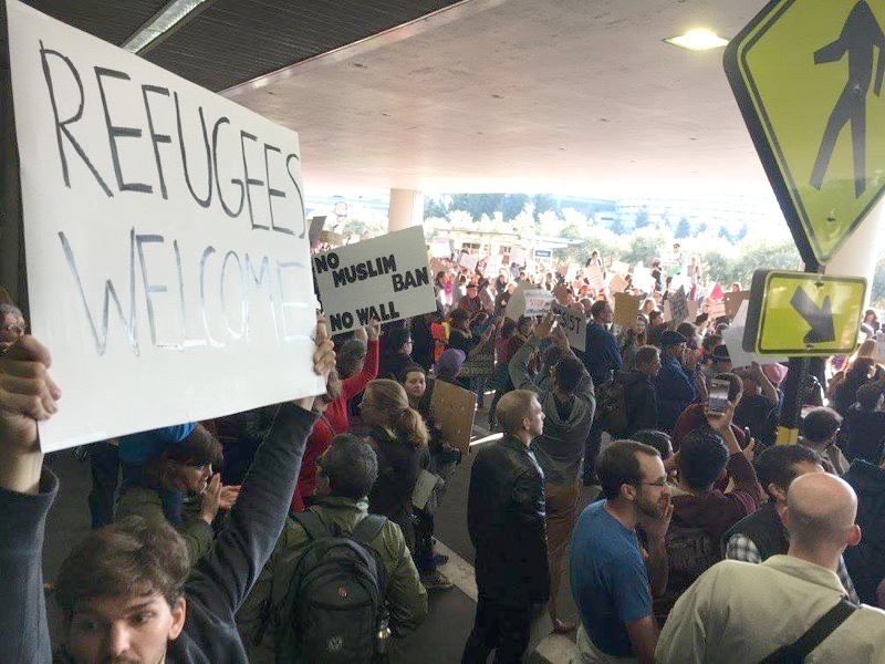 IRAP Berkeley at SFO Protests 1
