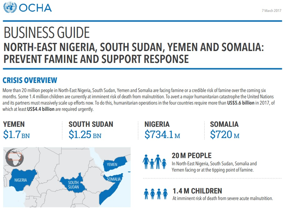 OCHA BUSINESS GUIDE fAMINE 2017