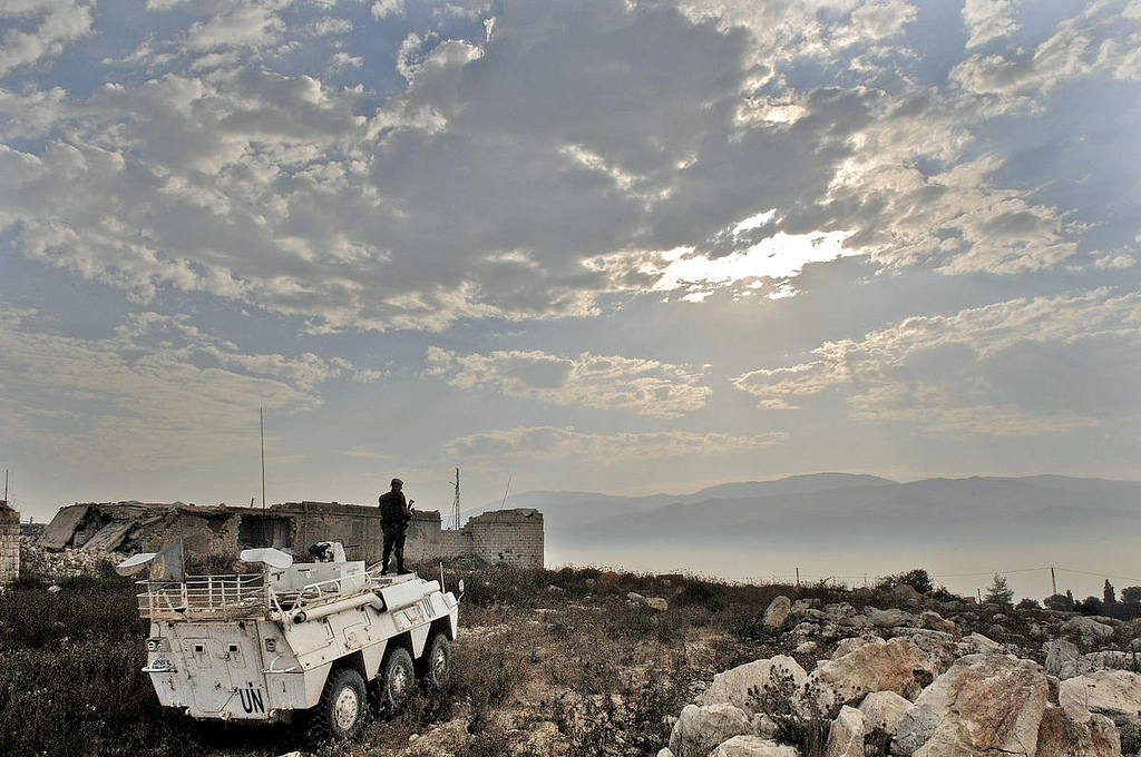 UNIFIL Military Personnel Patrols Southern Lebanon
