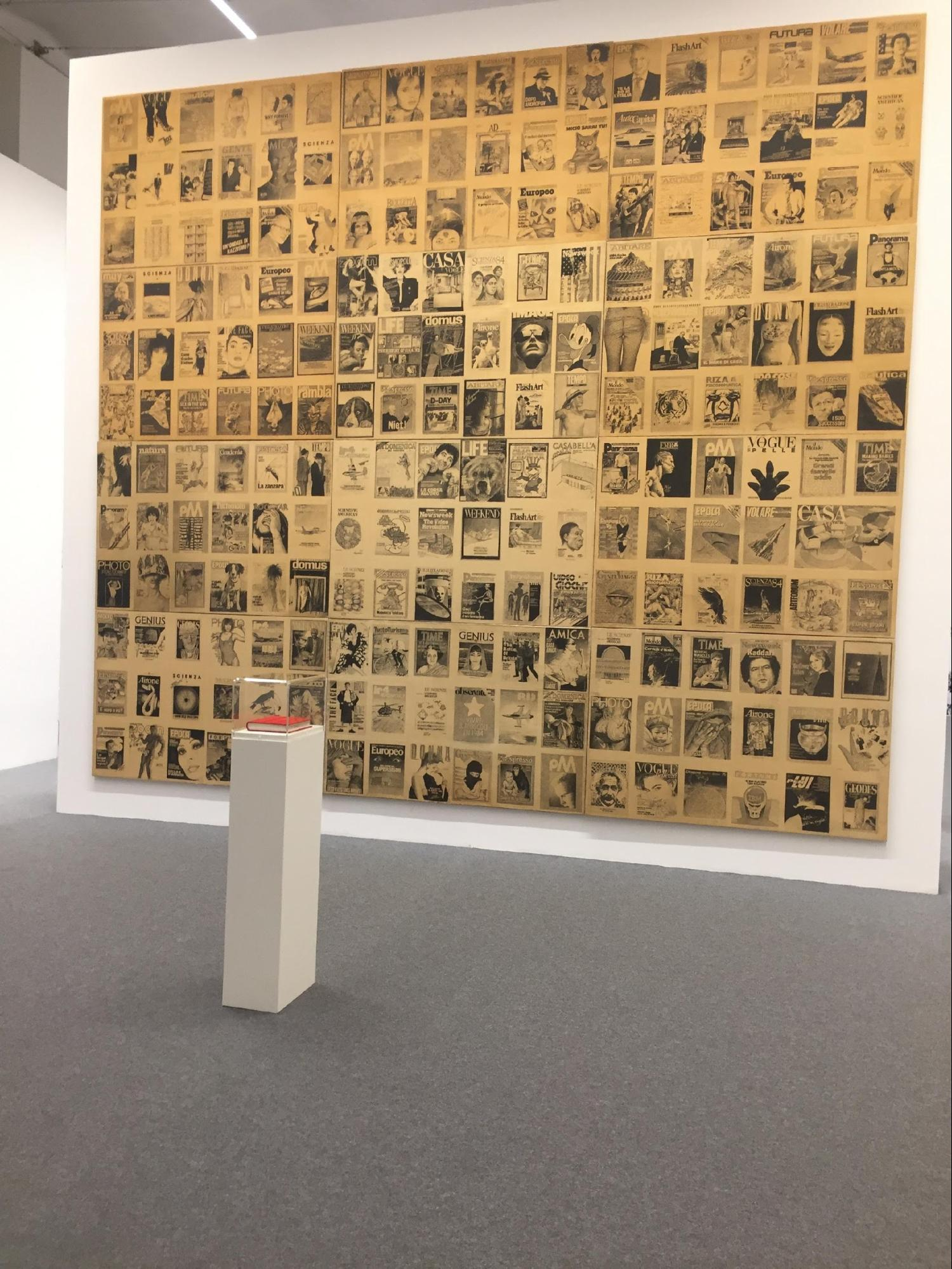 IN THE PHOTO: BOETTI'S COVERS (1984) (BIENNALE DI VENEZIA 2017)  PHOTO CREDIT: OLIVA SARTOGO