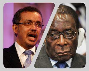 WHO DG Robert Mugabe collage