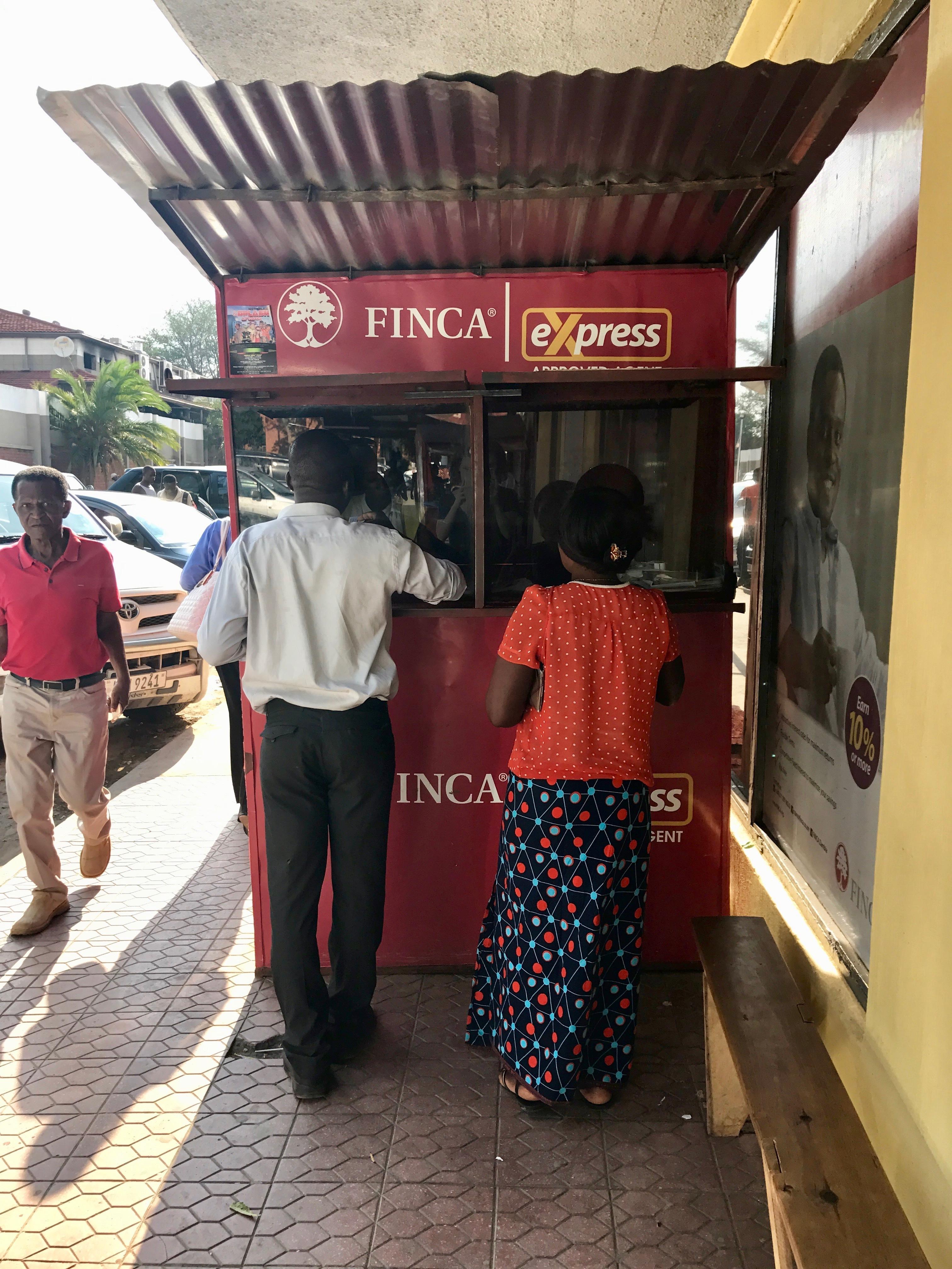 FINCA Tanzania mobile money kiosk