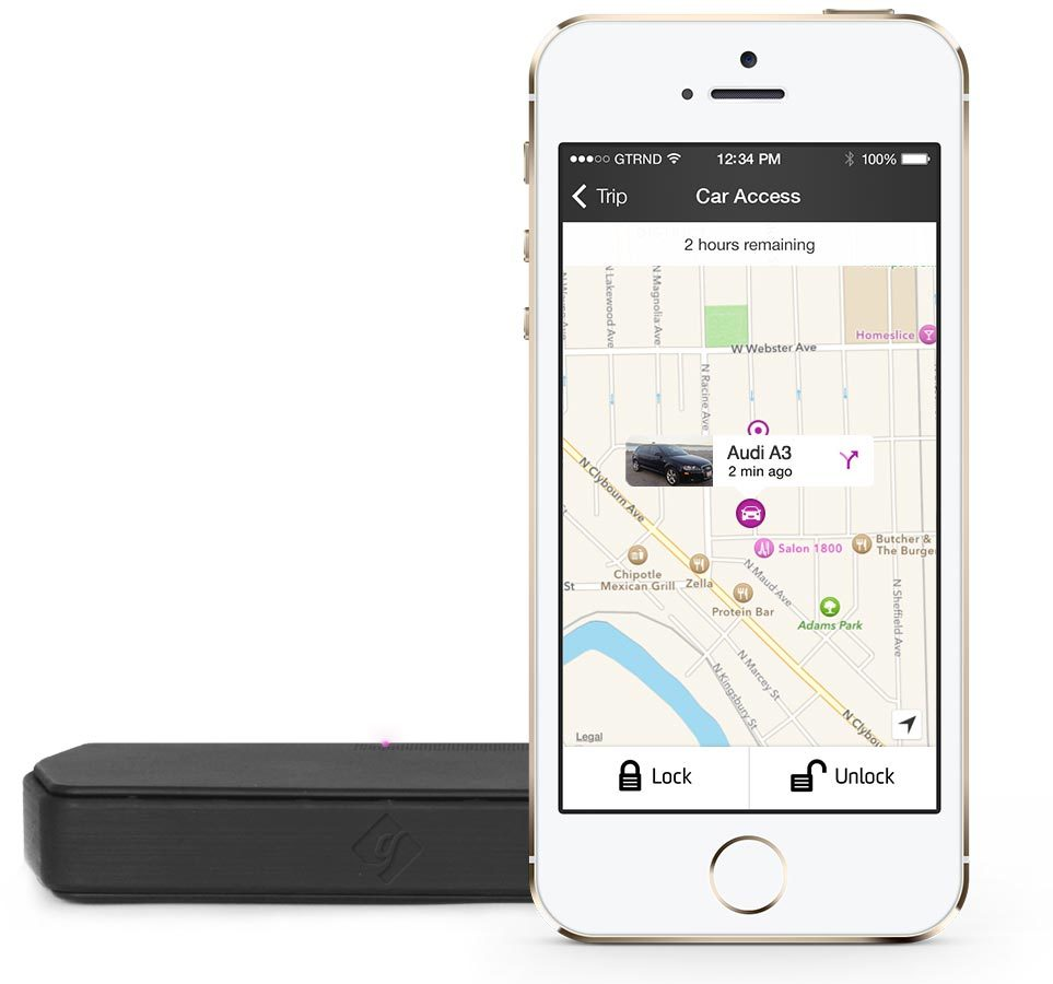 Getaround app with Connect device