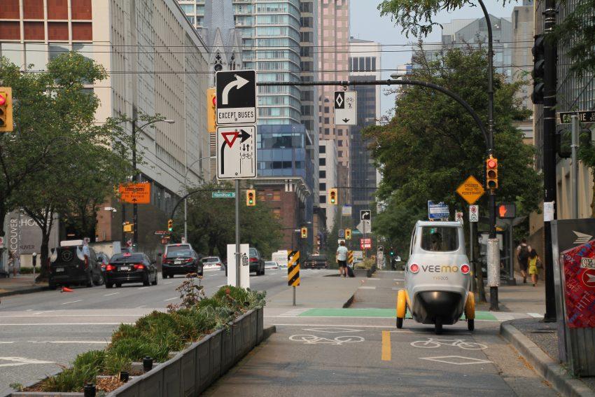 Veemo Downtown Vancouver Bike Lane