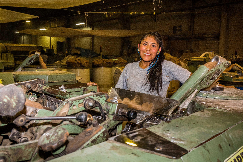Worker in Coopecan Alpaca Wool cooperative Peru (2)
