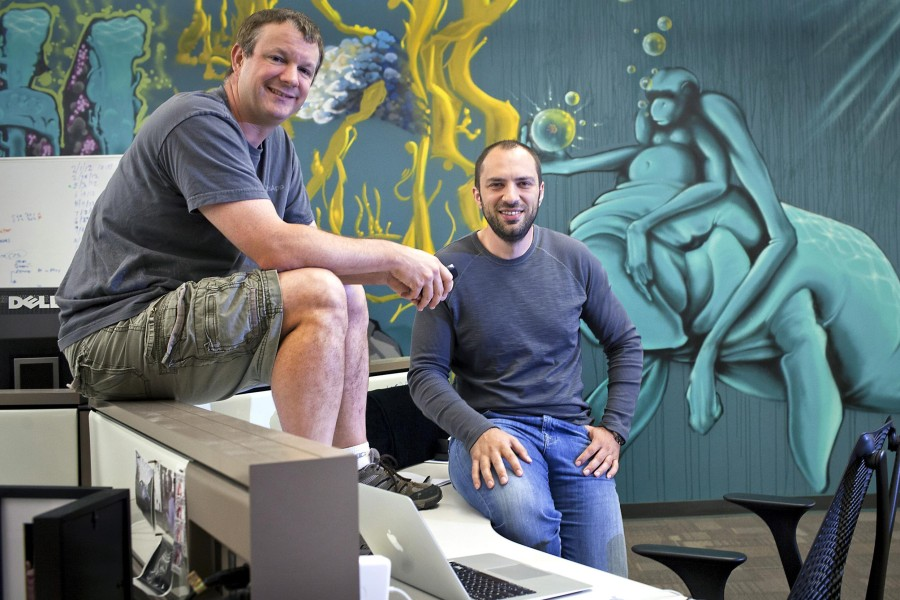 WhatsApp-founders-Brian-Acton-left-and-Jan-Koum-at-company-headquarters-in-Mou