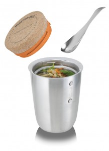 Thermo Pot with soup orange lid