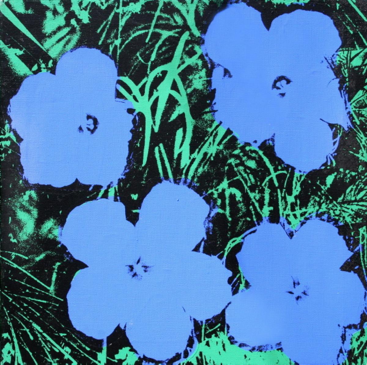 warhol-blue-flowers