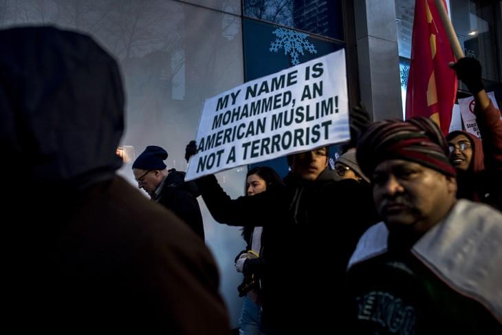 Protest against Donald Trump and Islamophobia