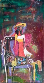 Colored Night, 2008, canvas acrylic