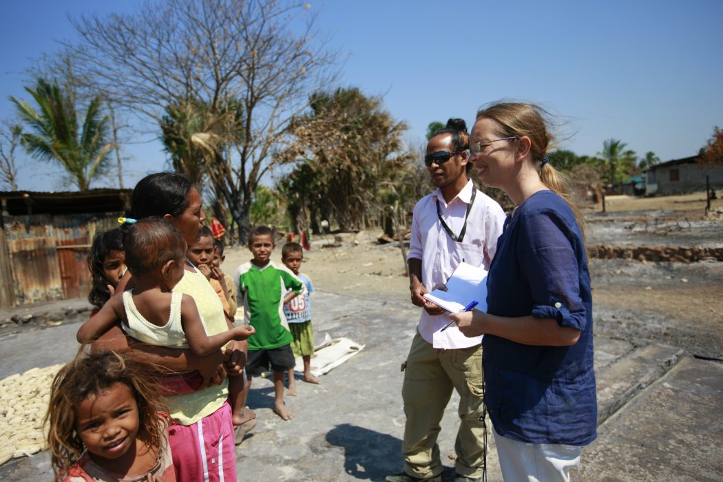 Human Rights Officers at work in Timor-Leste.