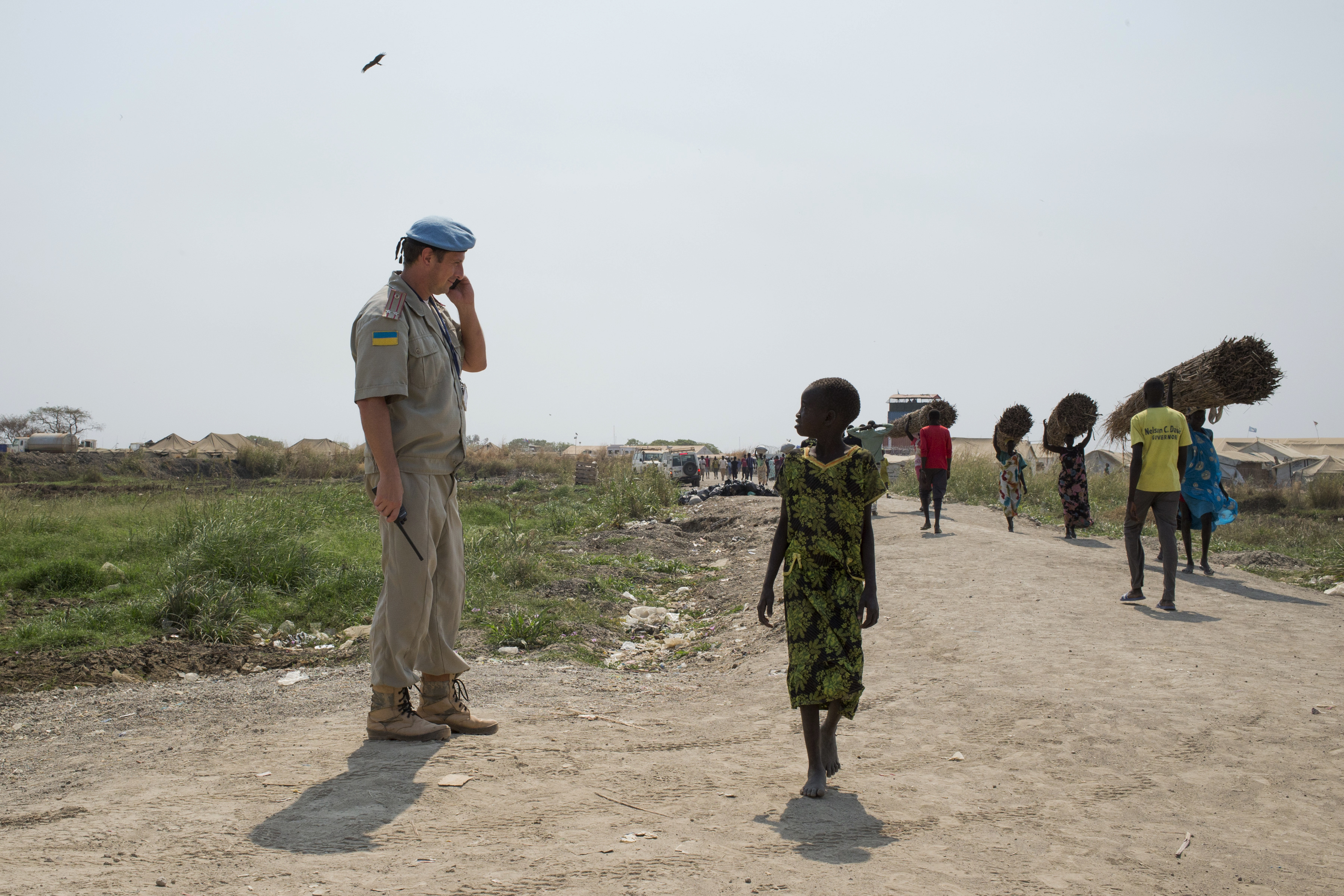 Ivan Simonovic, United Nations Assistant Secretary-General for Human Rights, visits South Sudan. UNPOL and FPU prepare for the arrival of the delegation at the POC site in Bentiu. Amnesty International