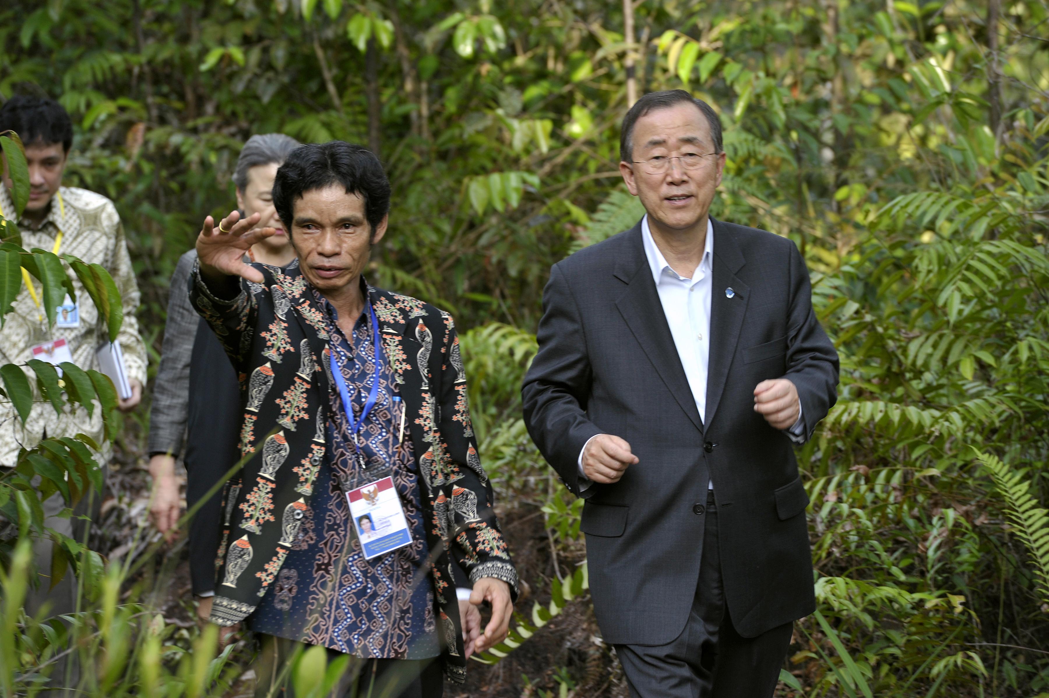 ban ki moon-deforestation-REDD+-SG-UNORCID-Palangkaraya, CENTRAL KALIMANTAN, indonesia