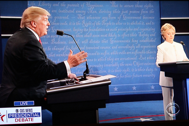 State-sponsored hacking was a major talking point at the third presidential debate. Photo courtesy of Bill B at Flickr.