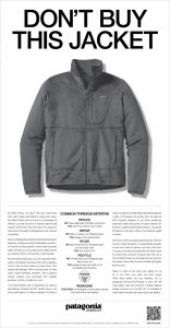 Patagonia's Ad in the New York Times on Black Friday 2011
