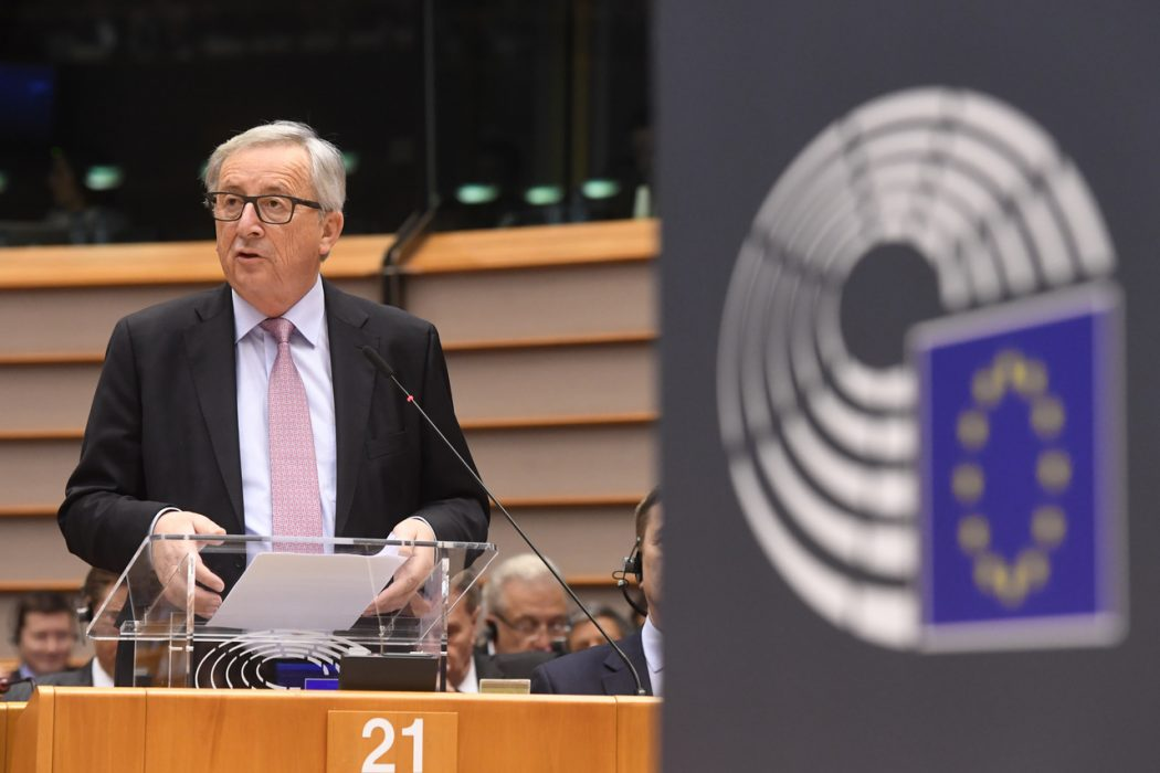 Jean-Claude Juncker, President of the EC, presents the White Paper on the Future of Europe at the European Parliament.