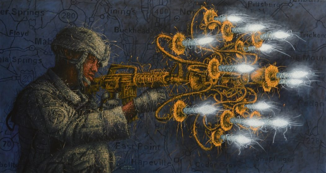 _Brain Wash – Enlightment_ 48_ x 90_ Oil on Canvas 2017