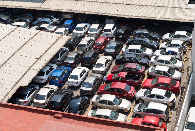 Estacionamiento lleno