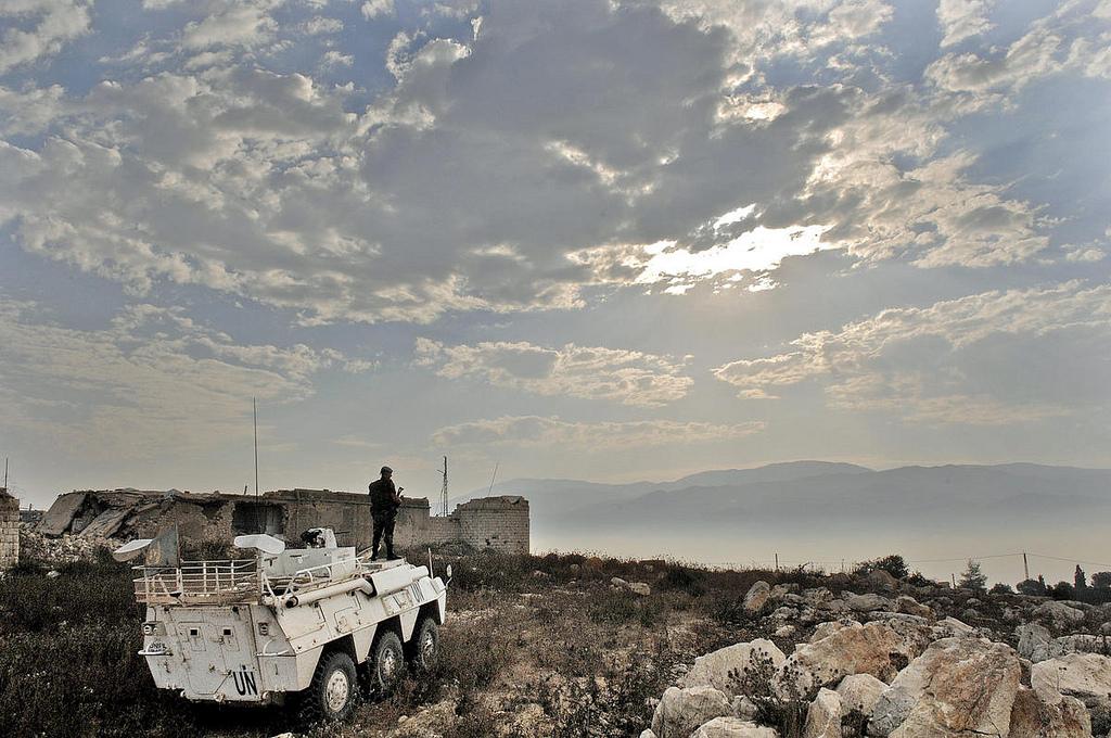 UNIFIL Military Personnel Patrols Southern Lebanon