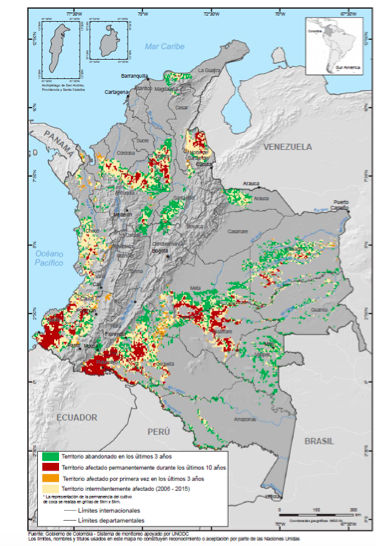 Colombia Persistence of Coca cultivation 2005-2015