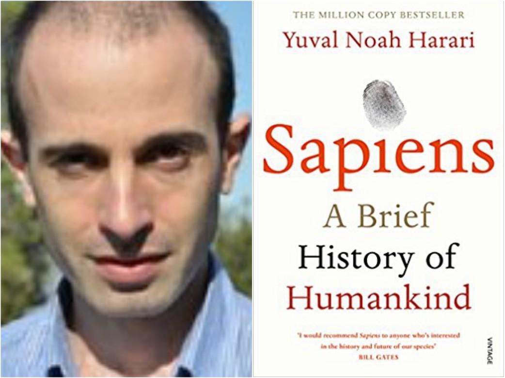 Harari Sapiens book collage