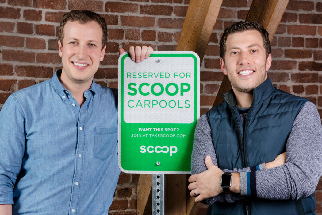 Scoop Founders Portrait with Sign