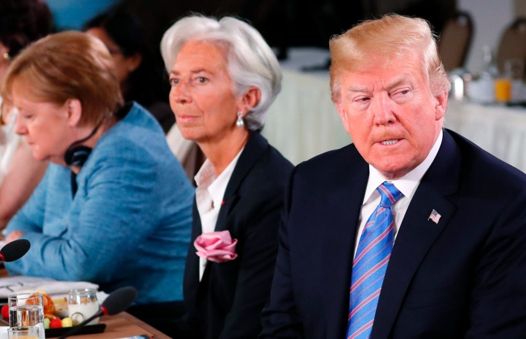 U.S. President Trump attends a G7 and Gender Equality Advisory Council meeting as part of a G7 summit in the Charlevoix city of La Malbaie