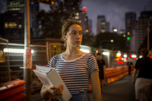 Lauren, one of Plan International Australia's youth activists, worries about navigating the city at night after school