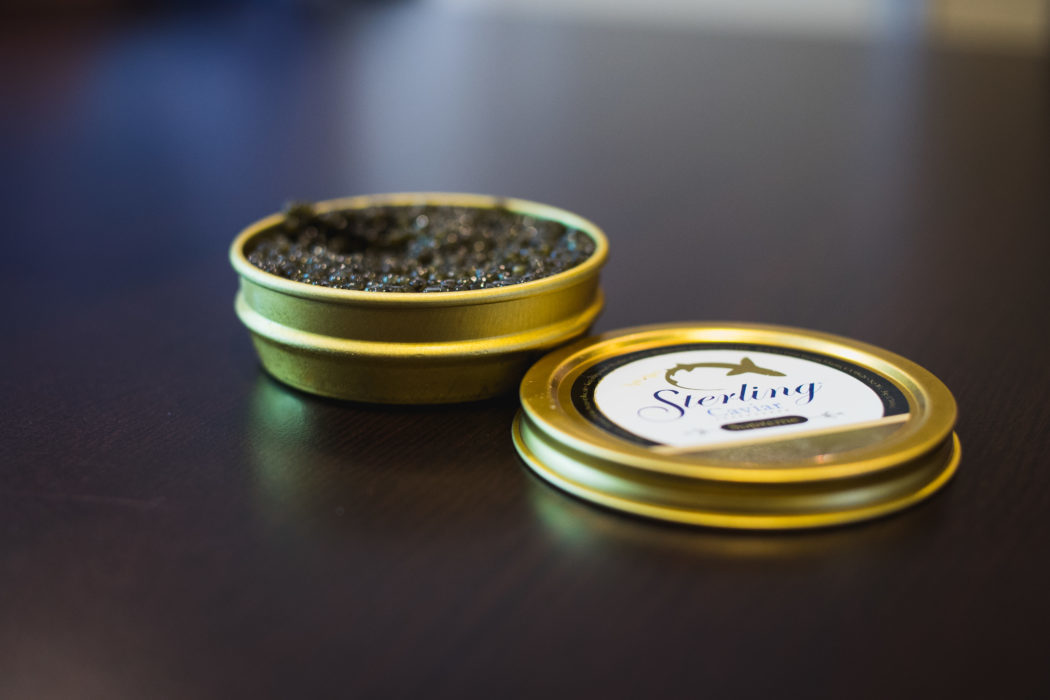 Sterling Caviar tin