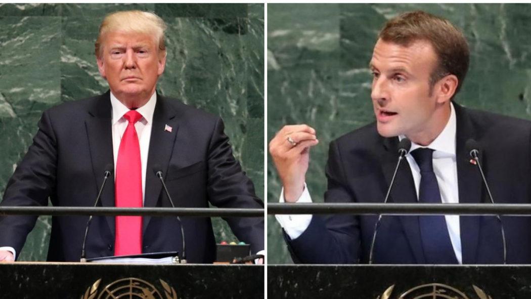 Trump Macron UN General Assembly speech