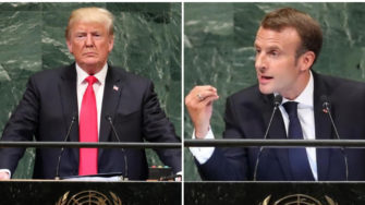 Trump vs. Macron at the United Nations