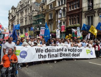 People's Vote on Brexit deal. October 20th march in London.