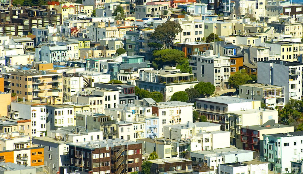 Various City Building Rooftops in San Francisco